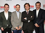 """James Graham, Jonny Lee Miller, Bertie Carvel, Rupert Goold, Barry Grove attends the Broadway Opening Night After Party for """"Ink"""" at the Copacabana on April 24, 2019  in New York City."""