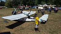 SeaMax, M-22, N153KC in the foreground, two Grumman Widgeons in the background at the Clear Lake Seaplane Splash-In, Lakeport, Lake County, California