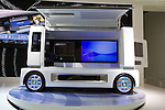 """December 30, 2011, Tokyo, Japan - Daihatsu's concept zero-emission, fuel-cell """"FC-Sho Case"""" vehicle is displayed at the 42nd Tokyo Motor Show. The show opens to the general public from December 3-11. (Photo by Christopher Jue/AFLO)"""