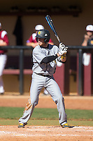Corey Greeson (3) of the Kennesaw State Owls at bat against the Winthrop Eagles at the Winthrop Ballpark on March 15, 2015 in Rock Hill, South Carolina.  The Eagles defeated the Owls 11-4.  (Brian Westerholt/Four Seam Images)