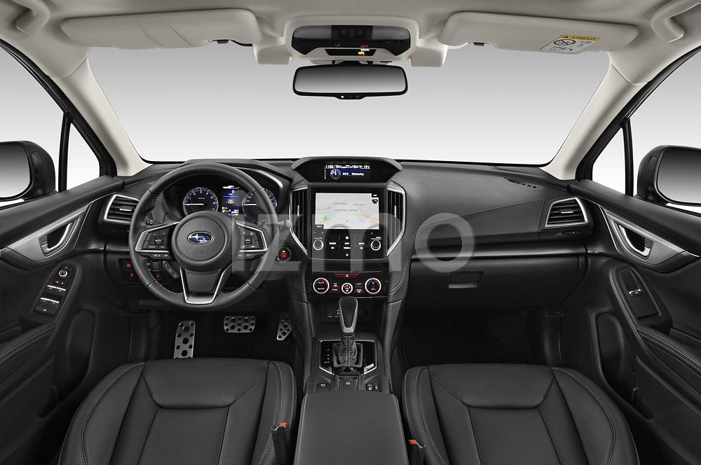 Stock photo of straight dashboard view of 2021 Subaru Impreza Premium 5 Door Hatchback Dashboard