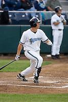 June 22, 2008: The Everett AquaSox's Brandon Fromm at-bat during the team's home opener against the Boise Hawks at Everett Memorial Stadium in Everett, Washington.