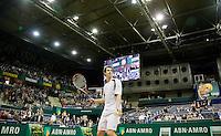 13-2-09,Rotterdam,ABNAMROWTT, Andy Murray slaat drie ballen in het publiek