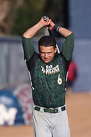 Nico Giarratano #6 of the San Francisco Dons during a game against the Loyola Marymount Lions at Page Stadium on April 5, 2014 in Los Angeles, California. San Francisco defeated Loyola Marymount, 6-4. (Larry Goren/Four Seam Images)