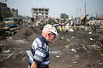 Father Laborde during his visit to Tikiapara slum area in Howrah. West Bengal, India, Arindam Mukherjee/Agency Genesis