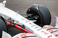 15th July 2021, Silverstone Circuit, Northampton, England;  2022 car launch, mechanical detail during the Formula 1 Pirelli British Grand Prix 2021, 10th round of the 2021 FIA Formula One World Championship