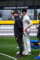 Firebirds coach Glenn Pocknall during day two of the Plunket Shield match between the Wellington Firebirds and Canterbury at Basin Reserve in Wellington, New Zealand on Tuesday, 20 October 2020. Photo: Dave Lintott / lintottphoto.co.nz