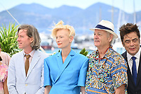 CANNES, FRANCE. July 13, 2021: Wes Anderson, Tilda Swinton, Bill Murray & Benicio Del Toro at the photocall for Wes Anderson's The French Despatch at the 74th Festival de Cannes.<br /> Picture: Paul Smith / Featureflash