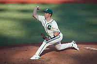 Charlotte 49ers starting pitcher Matt Brooks (41) \is\ Old Dominion Monarchs at Hayes Stadium on April 25, 2021 in Charlotte, North Carolina. (Brian Westerholt/Four Seam Images)