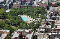 aerial photograph Marcus Garvey Park, Harlem, Manhattan, New York City