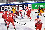 Eishockey: Deutschland – Tschechien am 01.05.2021 in der ARENA Nürnberger Versicherung in Nürnberg<br /> <br /> Save von Tschechiens Torhüter Roman Will (Nr.35) gegen Deutschlands Frederick Tiffels (Nr.95)<br /> <br /> Foto © Duckwitz/osnapix/PIX-Sportfotos *** Foto ist honorarpflichtig! *** Auf Anfrage in hoeherer Qualitaet/Aufloesung. Belegexemplar erbeten. Veroeffentlichung ausschliesslich fuer journalistisch-publizistische Zwecke. For editorial use only.