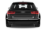 Straight rear view of 2015 Audi A6 S Line 5 Door Wagon stock images