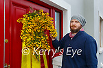Conor Browne who mounted boughs on doors in Killorglin for May Day celebrations