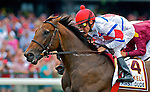 1 August 10: First Dude and jockey Ramon Dominguez lead the way the first time past the stands in the Haskell Invitational on Haskell Invitational Day at Monouth Park in Oceanport, New jersey
