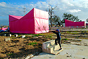 "Brad Pitt's Make It Right Foundation's art installation ""Pink Houses,'' 2007"