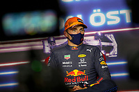 July 3rd 2021; F1 Grand Prix of Austria, qualifying sessions;  VERSTAPPEN Max (ned), Red Bull Racing Honda RB16B, celebrate taking pole