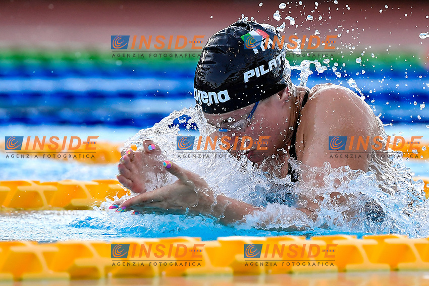 Benedetta Pilato of Italy competes in the women 50m breaststroke during the 58th Sette Colli Trophy International Swimming Championships at Foro Italico in Rome, June 26th, 2021. Benedetta Pilato placed first.