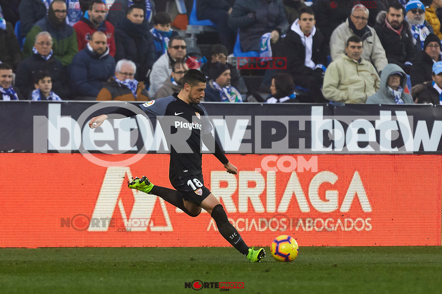 Sevilla FC's Sergio Escudero during La Liga match between CD Leganes and Sevilla FC at Butarque Stadium in Leganes, Spain. December 23, 2018. (ALTERPHOTOS/A. Perez Meca) /NortEPhoto.com