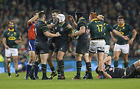 Saturday 11th November 2017; Ireland vs South Africa<br /> Rory Best is congratulated for winning another penalty during the Guinness Autumn Series between Ireland and South Africa at the Aviva Stadium, Lansdowne Road, Dublin, Ireland.  Photo by DICKSONDIGITAL