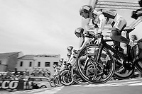 Team Androni-Giocattoli TTT start <br /> <br /> 2015 Giro<br /> stage 1: San Lorenzo Al Mare - San remo (TTT/17.6km)