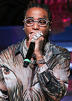 MANHATTAN, NEW YORK CITY, NEW YORK, USA - SEPTEMBER 08: Rapper Offset performs onstage at the PrettyLittleThing x Saweetie runway show during New York Fashion Week: The Shows held at The Plaza Hotel on September 8, 2019 in Manhattan, New York City, New York, United States.