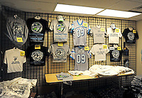 Oct. 8, 2009; Las Vegas, NV, USA; View of UFL merchandise for sale during the game between the California Redwoods against the Las Vegas Locomotives in the inaugural United Football League game at Sam Boyd Stadium. Las Vegas defeated California 30-17. Mandatory Credit: Mark J. Rebilas-
