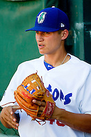 Corey Seager (46) of the Ogden Raptors prior to the game against the Orem Owlz at Lindquist Field on July 27, 2012 in Ogden, Utah.  The Raptors defeated the Owlz 6-3.   (Brian Westerholt/Four Seam Images)