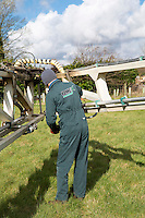 Changing nozzles on a Lite Trac boom - Norfolk, February