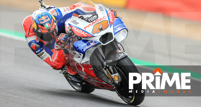Jack Miller (43) of the Alma Pramac Racing (Ducati) race team during the GoPro British MotoGP at Silverstone Circuit, Towcester, England on 24 August 2018. Photo by Chris Brown / PRiME Media Images