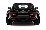 Straight rear view of a 2019 Toyota GR-Supra Sport 2 Door Coupe stock images
