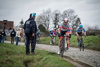Alexander Kristoff (NOR/UAE-Emirates) riding the ditch up the Oude Kwaremont<br /> <br /> 72nd Kuurne-Brussel-Kuurne 2020 (1.Pro)<br /> Kuurne to Kuurne (BEL): 201km<br /> <br /> ©kramon