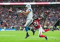 26.10.2014.  London, England.  NFL International Series. Atlanta Falcons versus Detroit Lions. Lions' RB Theo Riddick [25] in action.
