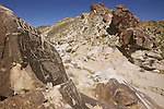 Ancient rock art of Nevada at Chrismas Tree Pass in the Grapevine Mountains of southern Nevada.