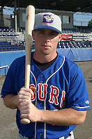 July 8, 2005:  Ryan Patterson of the Auburn Doubledays before a game at Dwyer Stadium in Batavia, NY.  Auburn is the Short Season Single-A NY-Penn League affiliate of the Toronto Blue Jays.  Photo By Mike Janes/Four Seam Images