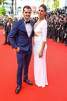 Juan Arbelaez et Laury Thilleman sur le tapis rouge pour la soirée dans le cadre de la journée anniversaire de la 70e édition du Festival du Film à Cannes, Palais des Festivals et des Congres, Cannes, Sud de la France, mardi 23 mai 2017.