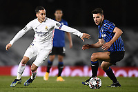 16th March 2021; Madrid, Spain; during the Champions League match, round of 16, between Real Madrid and Atalanta;  Berat Djimsiti and Lucas Vazquez