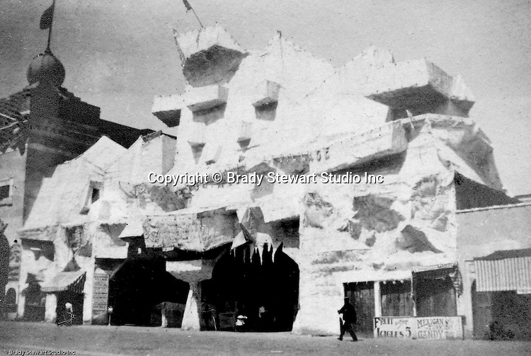 St Louis MO:  View of Cliff Dweller's exhibit on the pike at the Louisiana Purchase Exposition.
