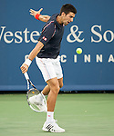 Novak Djokovic of Serbia at the Western & Southern Open in Mason, OH on August 16, 2012.