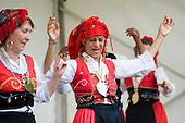 Portugese Dance Group perform at Westbourne Festival, Paddington, London.