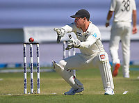 NZ wicketkeeper BJ Watling in action during day two of the second International Test Cricket match between the New Zealand Black Caps and West Indies at the Basin Reserve in Wellington, New Zealand on Friday, 11 December 2020. Photo: Dave Lintott / lintottphoto.co.nz