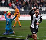 02.03.2019: St Mirren v Livingston: Ryan Flynn celebrates his goal