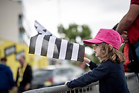 young Breton fan at the start<br /> <br /> Stage 2 from Perros-Guirec to Mûr-de-Bretagne, Guerlédan (184km)<br /> 108th Tour de France 2021 (2.UWT)<br /> <br /> ©kramon