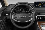 Car pictures of steering wheel view of a 2021 Genesis GV80 Advanced 5 Door SUV Steering Wheel