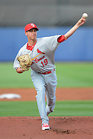 Palm Beach Cardinals pitcher Tyler Melling #19 during a game against the Charlotte Stone Crabs at Charlotte Sports Park on April 7, 2013 in Port Charlotte, Florida.  Palm Beach defeated Charlotte 8-1.  (Mike Janes/Four Seam Images)