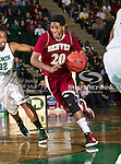 Denver Pioneers forward Royce O'Neale (20) in action during the game between the Denver Pioneers and the University of North Texas Mean Green at the North Texas Coliseum,the Super Pit, in Denton, Texas. UNT defeated Denver 75 to 74 in overtime.