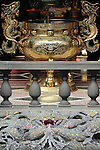 Bao-jhong Yi-min Temple, Kaohsiung -- Ornamental dragons figure prominently in Taiwanese temples.