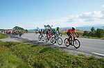 The break tries to go from the start Stage 1 of the 2018 Artic Race of Norway, running 184km from Vadso to Kirkenes, Norway. 16th August 2018. <br /> <br /> Picture: ASO/Rasmus Kongsore | Cyclefile<br /> All photos usage must carry mandatory copyright credit (© Cyclefile | ASO/Rasmus Kongsore)