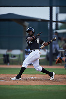 AZL White Sox Bryan Ramos (10) at bat during an Arizona League game against the AZL Padres 2 on June 29, 2019 at Camelback Ranch in Glendale, Arizona. The AZL Padres 2 defeated the AZL White Sox 7-3. (Zachary Lucy/Four Seam Images)