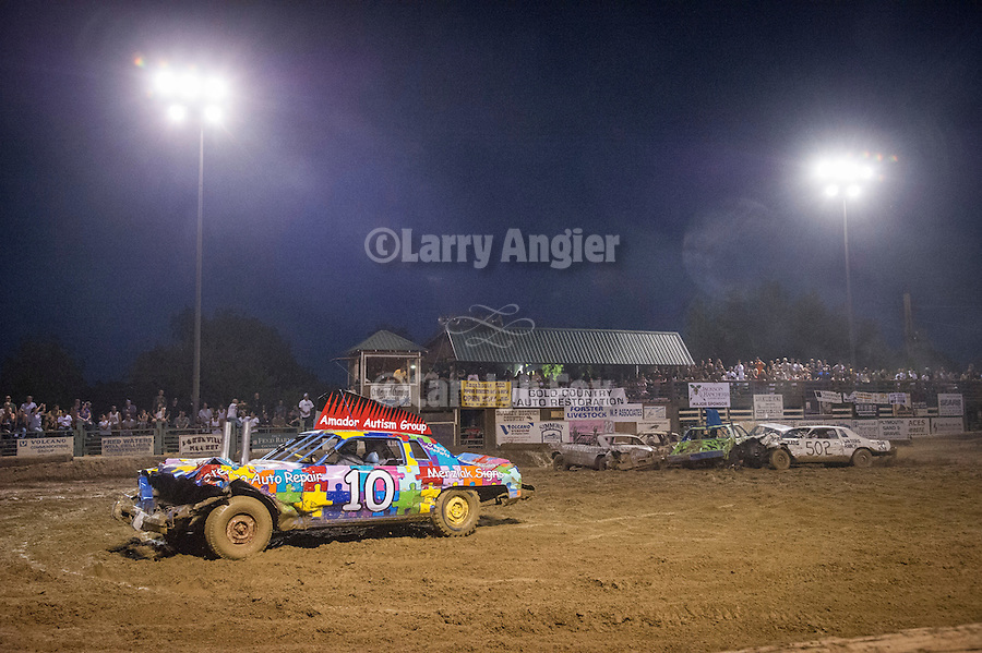 74th Amador County Fair, Plymouth, Calif...Destruction Derby in the main arena