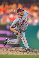 8 June 2013: Minnesota Twins pitcher Glen Perkins on the mound against the Washington Nationals at Nationals Park in Washington, DC. The Twins edged out the Nationals 4-3 in 11 innings. Mandatory Credit: Ed Wolfstein Photo *** RAW (NEF) Image File Available ***